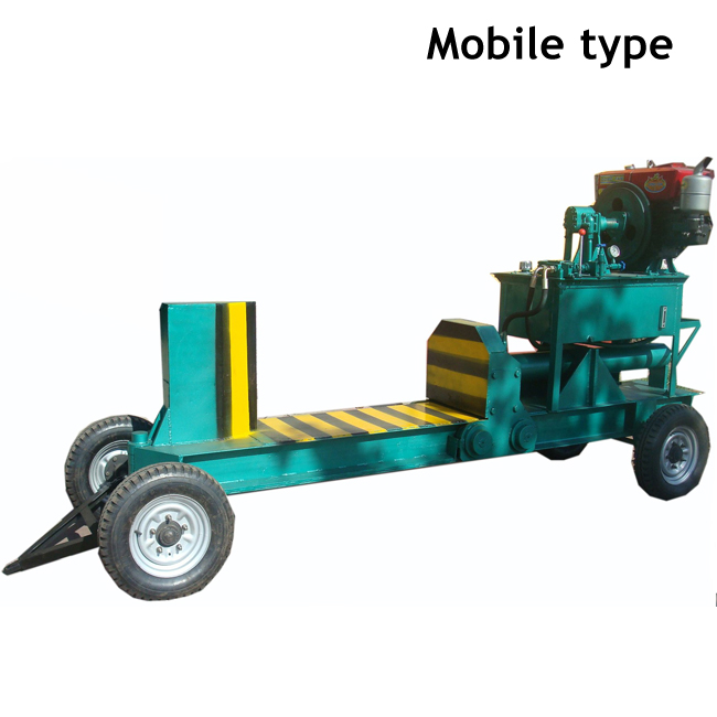 Mechanical Automatic diesel engine timber wood logs cutting machine