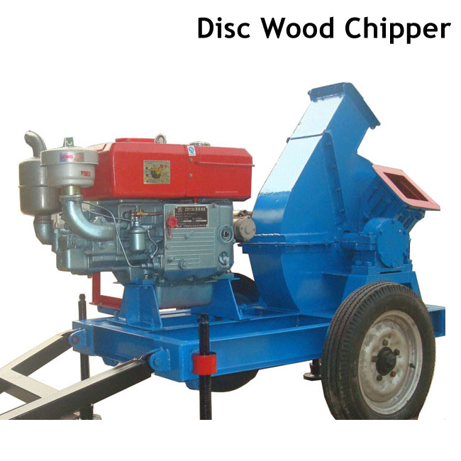 Diesel Engine Powered Disc Wood Chipper for Wood Pellet Plant