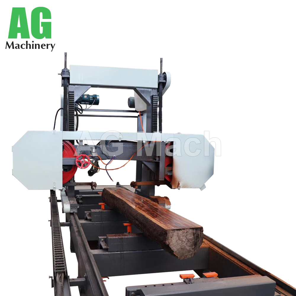 teak wood cutting large horizontal band sawmills log saw cutting machine for big wood