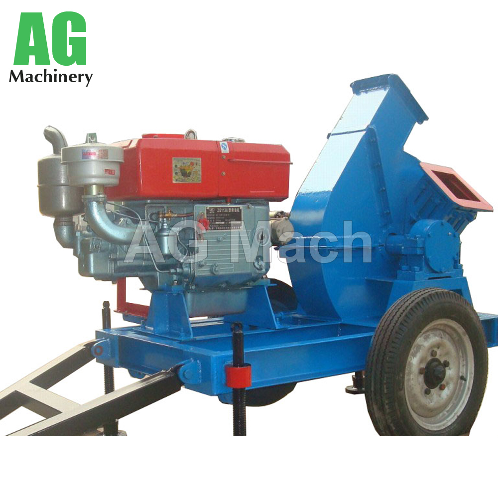 high efficiency disc type electric wood chipper shredder machine