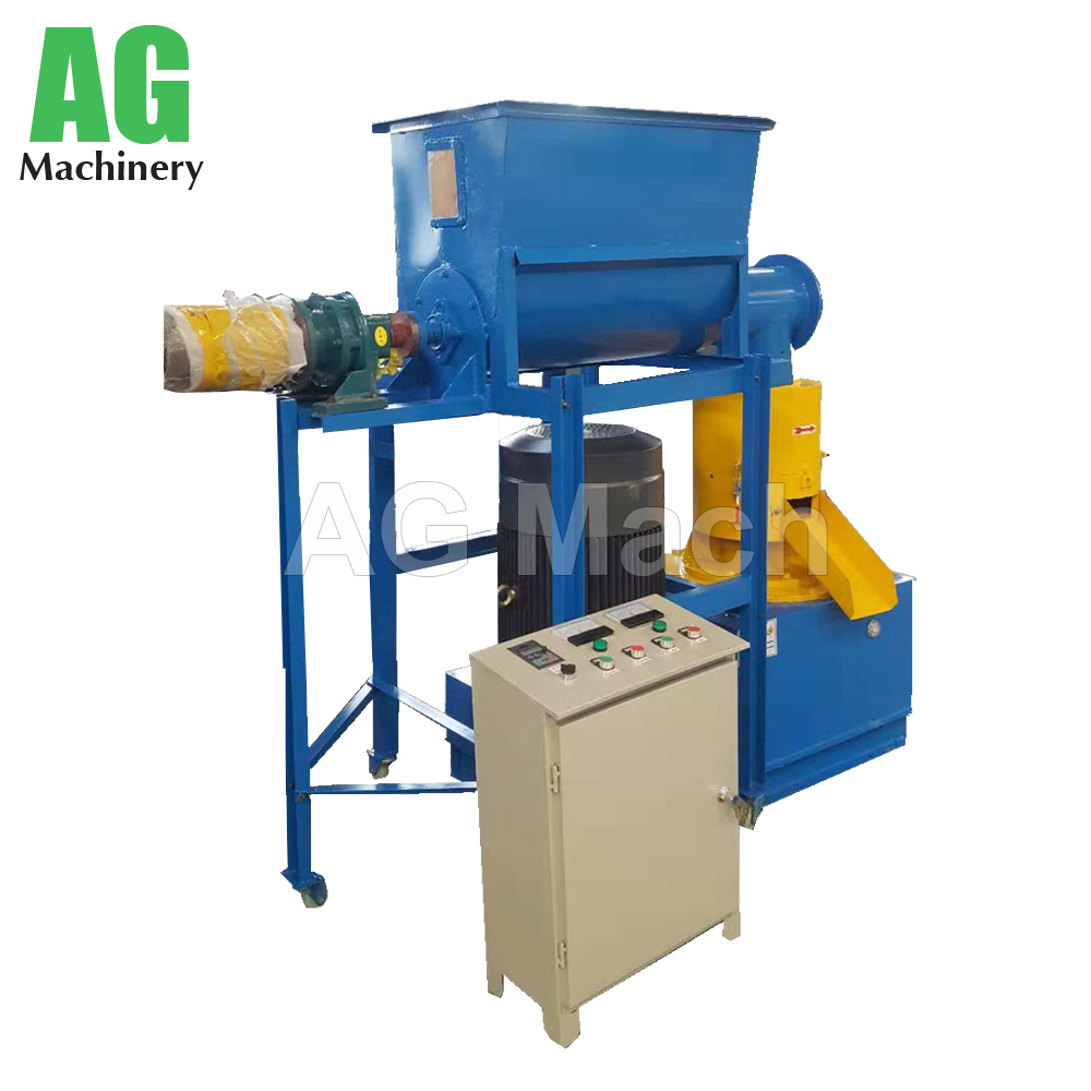 KAF 450 Automatic wood pellet mill agricultural waste flat die sawdust pellet machine