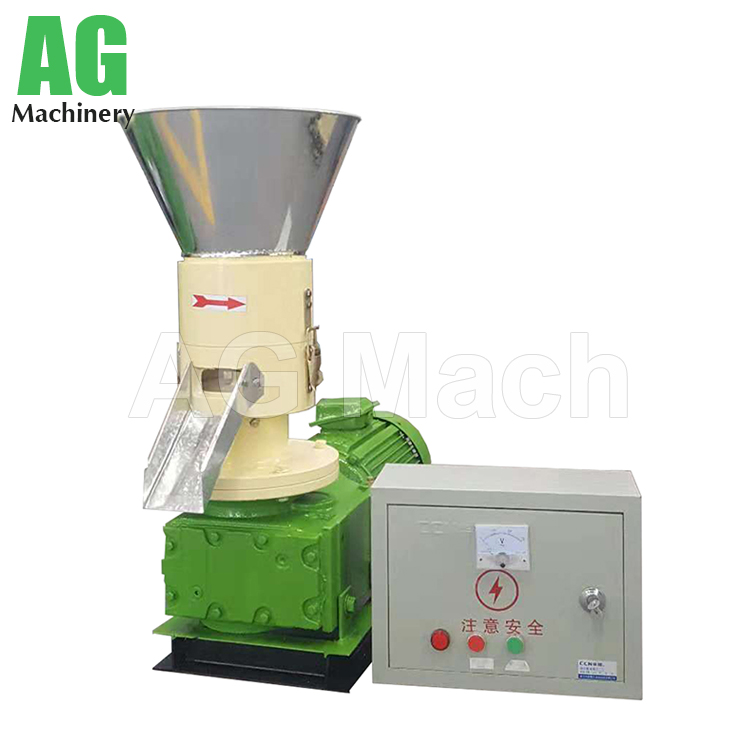 KAF 250 flat die wood pellet mill for home use