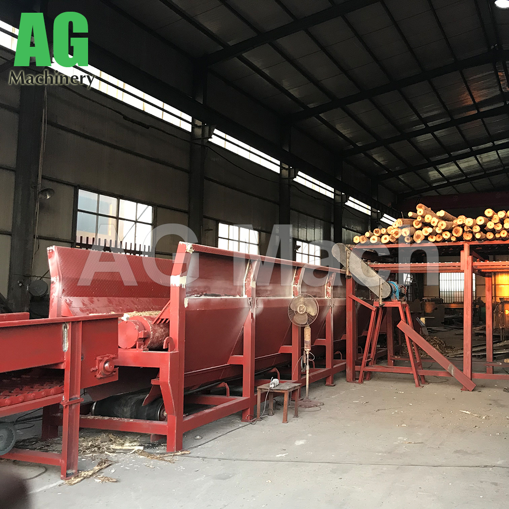 20-30m³ logs/hour Wood Log Debarking Line